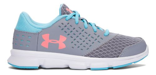 Kids Under Armour Rave RN Running Shoe - Steel/Venetian Blue 1Y
