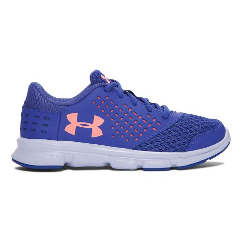 Kids Under Armour Rave RN Running Shoe - Periwinkle/Orange 11C