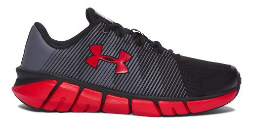 Kids Under Armour X-Level Scramjet Running Shoe - Black/Red 5.5Y
