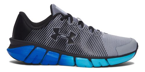 Kids Under Armour X-Level Scramjet Running Shoe - Grey/Blue 3.5Y