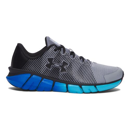 Kids Under Armour X-Level Scramjet Running Shoe - Grey/Blue 4Y