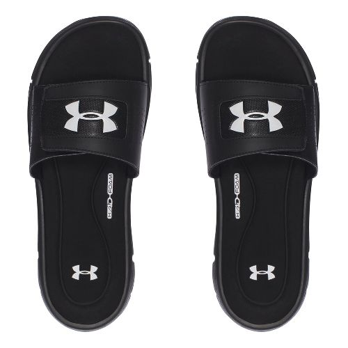 Mens Under Armour Ignite V SL Sandals Shoe - Black/White 14