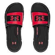 Mens Under Armour Ignite V SL Sandals Shoe - Black/Red 7
