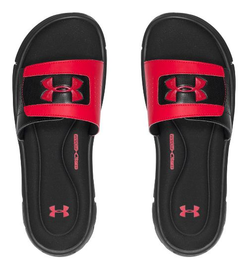 Mens Under Armour Ignite V SL Sandals Shoe - Black/Red 7