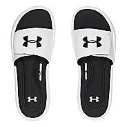Mens Under Armour Ignite V SL Sandals Shoe - White/Black 13