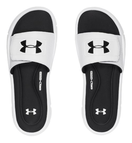 Mens Under Armour Ignite V SL Sandals Shoe - White/Black 7