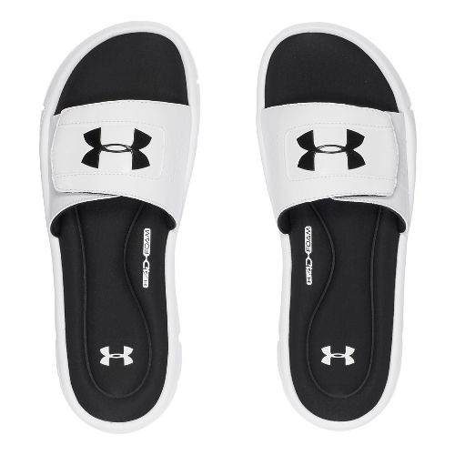 Mens Under Armour Ignite V SL Sandals Shoe - White/Black 9
