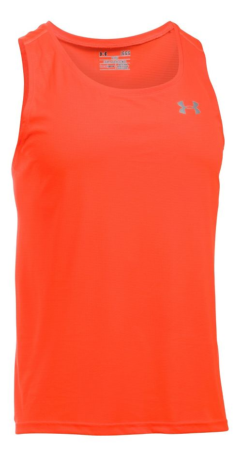 Mens Under Armour Coolswitch Run Singlet V2 Sleeveless & Tank Technical Tops - Phoenix Fire XL