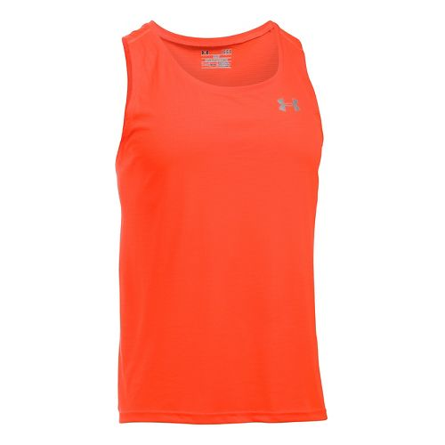 Mens Under Armour Coolswitch Run Singlet V2 Sleeveless & Tank Technical Tops - Phoenix Fire XXL