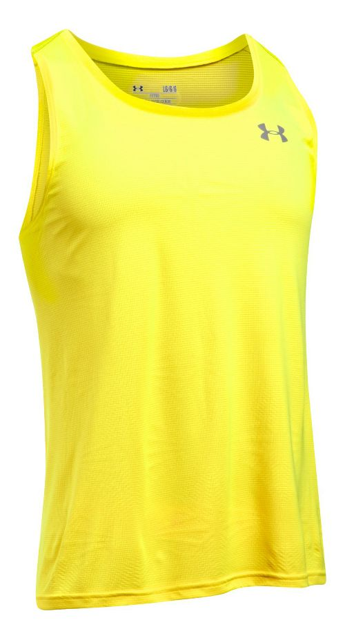 Mens Under Armour Coolswitch Run Singlet V2 Sleeveless & Tank Technical Tops - Yellow Ray L