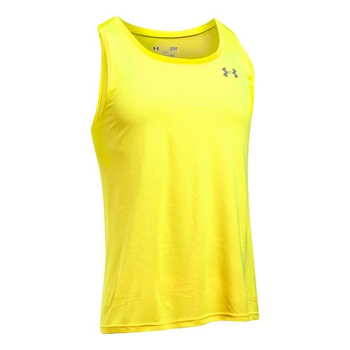 Mens Under Armour Coolswitch Run Singlet V2 Sleeveless & Tank Technical Tops - Yellow Ray ...