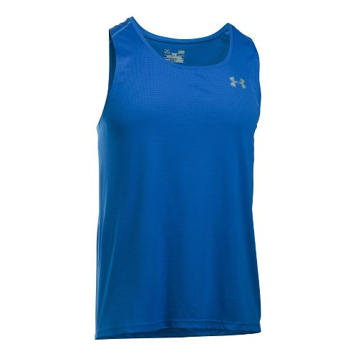 Mens Under Armour Coolswitch Run Singlet V2 Sleeveless & Tank Technical Tops - Blue Marker ...