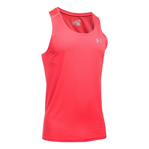 Mens Under Armour Coolswitch Run Singlet V2 Sleeveless & Tank Technical Tops - Marathon Red XXL