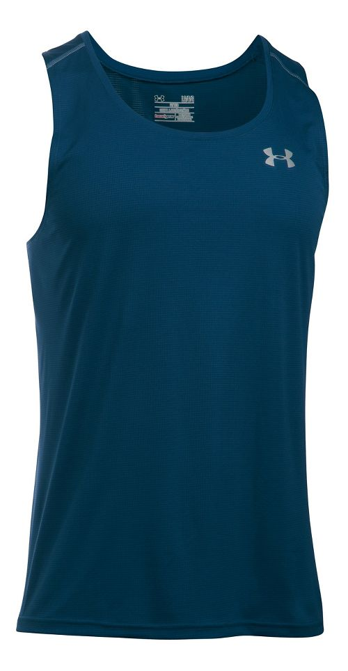 Mens Under Armour Coolswitch Run Singlet V2 Sleeveless & Tank Technical Tops - Blackout Navy M