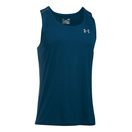 Mens Under Armour Coolswitch Run Singlet V2 Sleeveless & Tank Technical Tops - Blackout Navy ...