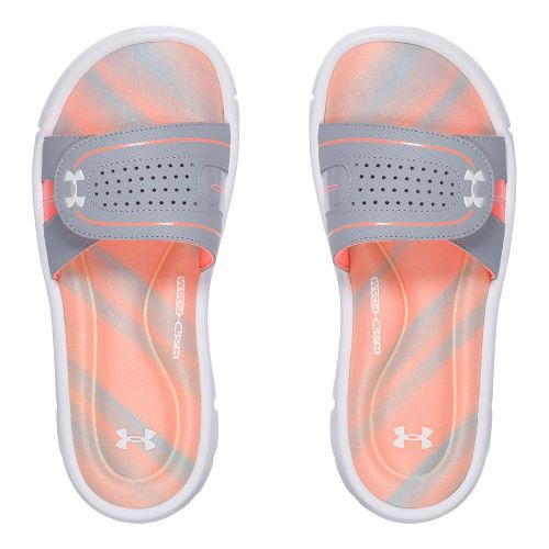 Womens Under Armour Ignite Finisher VIII SL Sandals Shoe - Orange/Grey 9