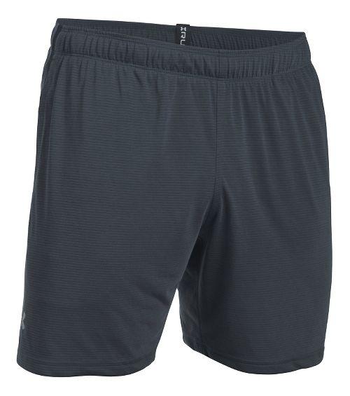 Mens Under Armour Threadborne Run Lined Shorts - Stealth Grey/Black L