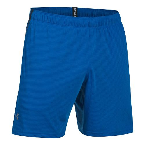 Mens Under Armour Threadborne Run Lined Shorts - Blue Marker/Black XXL