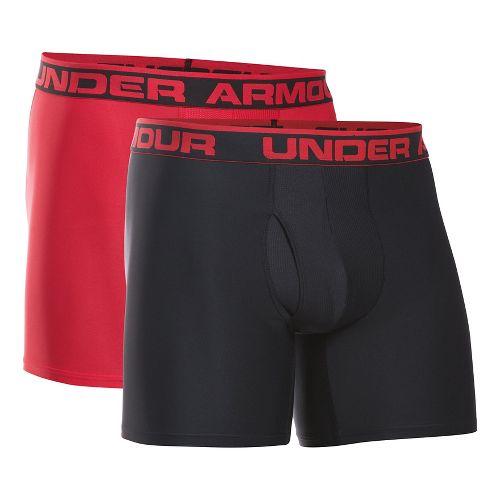 Mens Under Armour Original Series BoxerJock 2 pack Underwear Bottoms - Black/Red 3XL
