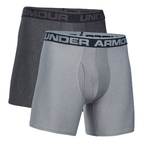 Mens Under Armour Original Series BoxerJock 2 pack Underwear Bottoms - Carbon/True Grey M