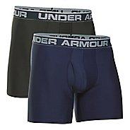 Mens Under Armour Original Series BoxerJock 2 pack Underwear Bottoms - Midnight Navy/Green M