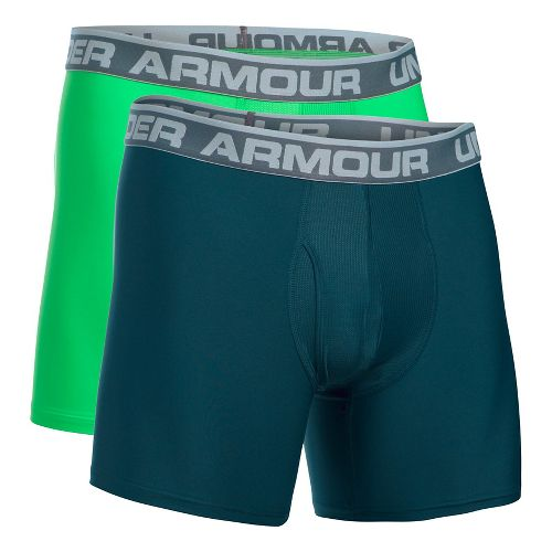 Mens Under Armour Original Series BoxerJock 2 pack Underwear Bottoms - Teal/Northern Lights S