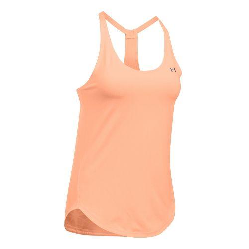 Womens Under Armour Heatgear Coolswitch Sleeveless & Tank Technical Tops - Playful Peach M