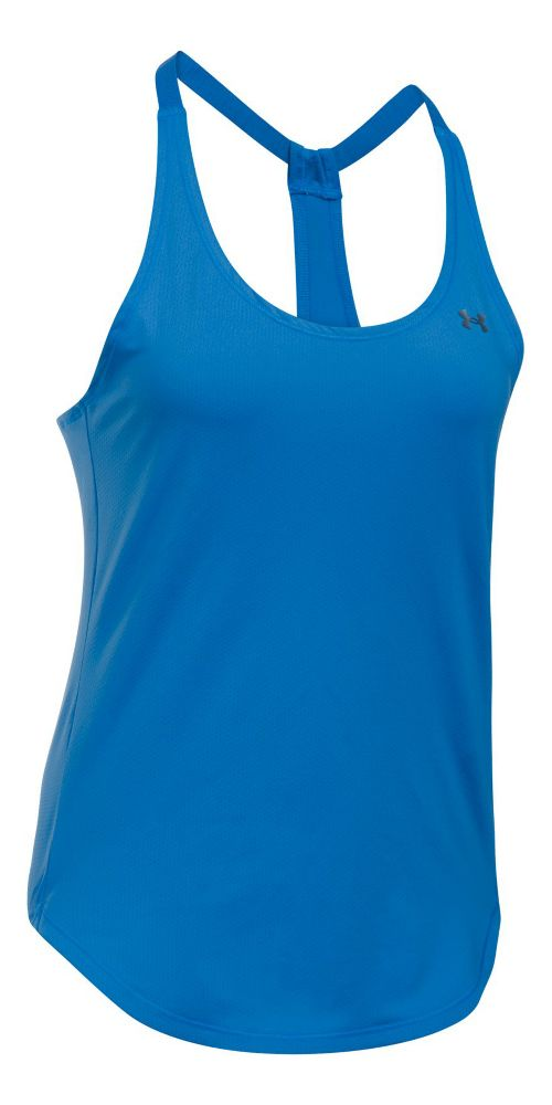 Womens Under Armour Heatgear Coolswitch Sleeveless & Tank Technical Tops - Mediterranean XL