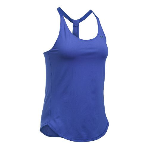 Womens Under Armour Heatgear Coolswitch Sleeveless & Tank Technical Tops - Constellation Purple S