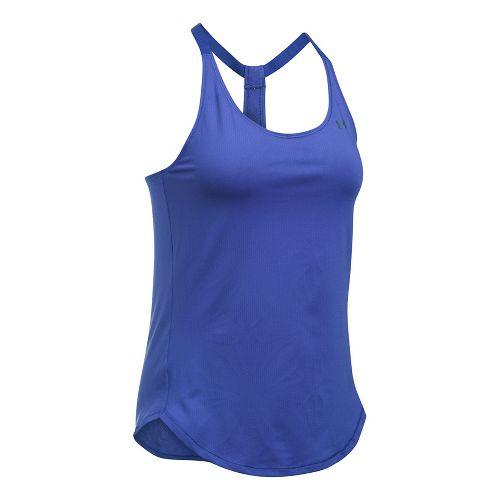 Womens Under Armour Heatgear Coolswitch Sleeveless & Tank Technical Tops - Constellation Purple XL