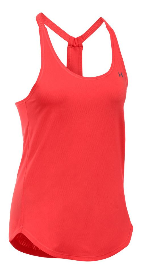 Womens Under Armour Heatgear Coolswitch Sleeveless & Tank Technical Tops - Pomegranate L