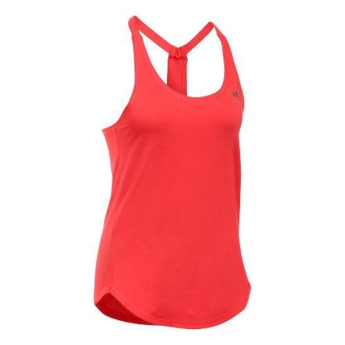 Womens Under Armour Heatgear Coolswitch Sleeveless & Tank Technical Tops - Pomegranate XL