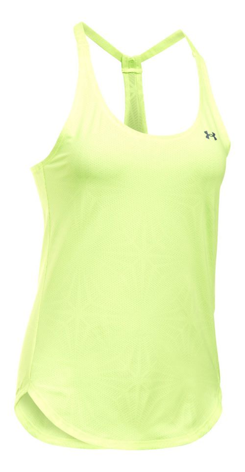 Womens Under Armour Heatgear Coolswitch Sleeveless & Tank Technical Tops - Pale Moonlight L