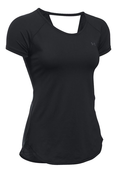 Under Armour Heatgear Coolswitch Short Sleeve Technical Tops - Black L