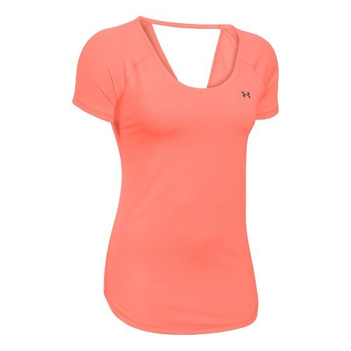 Under Armour Heatgear Coolswitch Short Sleeve Technical Tops - London Orange XS