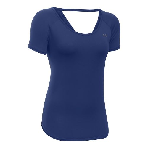 Under Armour Heatgear Coolswitch Short Sleeve Technical Tops - Europa Purple XS