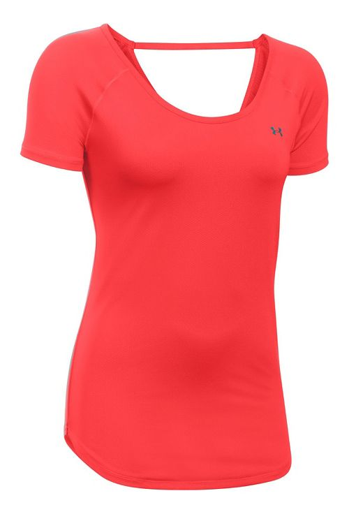Under Armour Heatgear Coolswitch Short Sleeve Technical Tops - Pomegranate XL