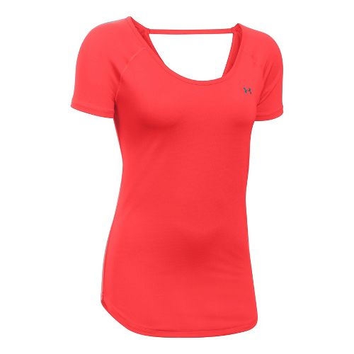 Under Armour Heatgear Coolswitch Short Sleeve Technical Tops - Pomegranate L