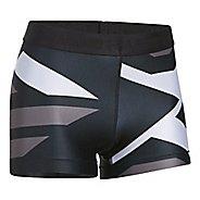 Womens Under Armour Heatgear Engineered Shorty Unlined Shorts - Black/Metallic XL
