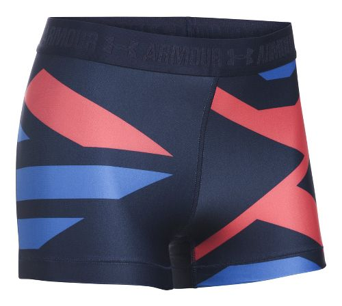 Womens Under Armour Heatgear Engineered Shorty Unlined Shorts - Midnight/Metallic L
