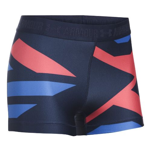 Womens Under Armour Heatgear Engineered Shorty Unlined Shorts - Midnight/Metallic S