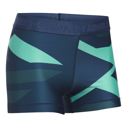 Womens Under Armour Heatgear Engineered Shorty Unlined Shorts - Blackout Navy XS