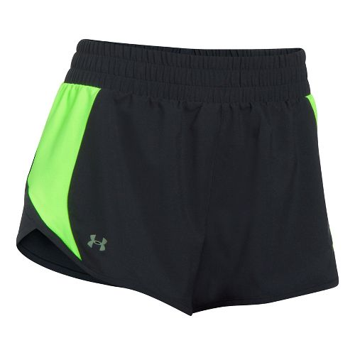 Womens Under Armour Launch Tulip Lined Shorts - Quirky Lime S