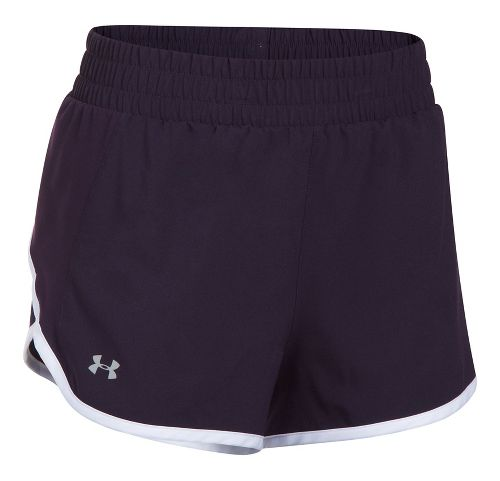 Womens Under Armour Launch Tulip Lined Shorts - Purple/Orchid S