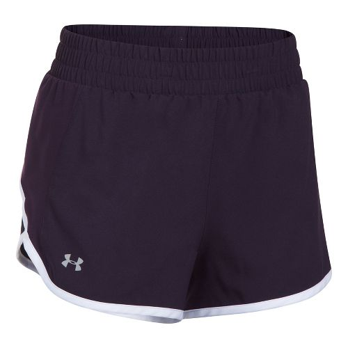 Womens Under Armour Launch Tulip Lined Shorts - Purple/Orchid XS