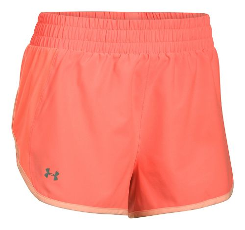 Womens Under Armour Launch Tulip Lined Shorts - Orange/Peach M
