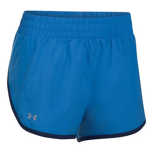Womens Under Armour Launch Tulip Lined Shorts - Mediterranean/Navy M