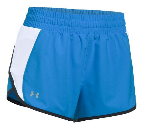 Womens Under Armour Launch Tulip Lined Shorts - Mako Blue XS