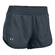 Womens Under Armour Launch Tulip Printed Lined Shorts - Stealth Grey M