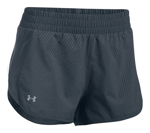 Womens Under Armour Launch Tulip Printed Lined Shorts - Stealth Grey XL